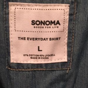 Sonoma Tops - Lightweight jean style button up